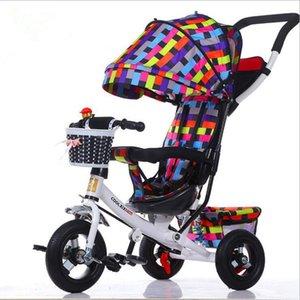 Taşınabilir katlanır bisiklet bebek bisiklet bebek arabası çocuk bisikletleri üç tekerlek 1-3-6 yaşında bebek Çocuk arabası bisiklet hediyeleri