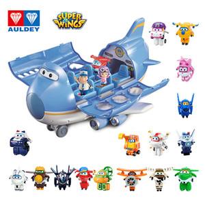 Auldey Süper Wings Big Kanat Playset Mini Robotlar Uçak Sahne Serisi Seti Jett Jimbo Mini Eylem Şekil Dizzy Astra Çocuklar Oyuncak 3T +