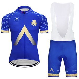 Hot Sale Men Aqua Blue Cycling Jersey suits short sleeve shirt bib shorts set Breathable Cycling Clothing Summer mtb Bicycle Wear Y021802