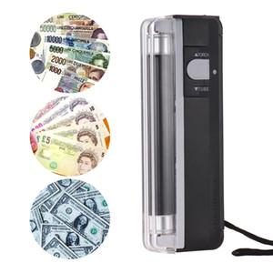 2 في 1 المحمولة البسيطة للكشف عن النقود المزيفة النقدية العملة البنكنوت بيل مدقق تستر مع مصباح الأشعة فوق البنفسجية الخفيفة