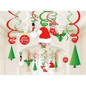 Yi Shugery Noel Duvar boyunda Home için süslemeler Noel kolye Bırak Süsler Mutlu Süsleri