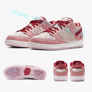 Xshfbcl 2020 Hot New Strange Love X SB Dunk Low ROSE Chaussures Chaussures de course Hommes Femmes Outdoor Sport Baskets Sneakers