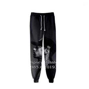 Designer Mens 3D nipsey hussle Jogger Pants Spring Teenager School Sports Casual R.I.P Pencil Pants Printed