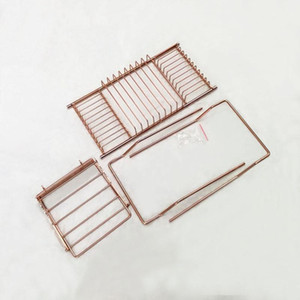 Stainless Steel Bathtub Rack Shower Organizer Bathtub Caddy Tray with Extending Sides Book Holder Rose Gold Bathroom Shelves GGA2883