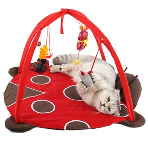 Cat Beds Mats Traing Tortorise Pet Cats Bed Toys Mobile Activity Playing Bed Toys Pad Blanket House Cat Tent Toy