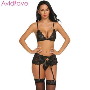Avidlove Kadınlar Babydoll Sexy Lingerie Set Çiçek Dantel Pamuk Egzotik Sutyen Setleri Artı SizeWomen Seks Ürünleri