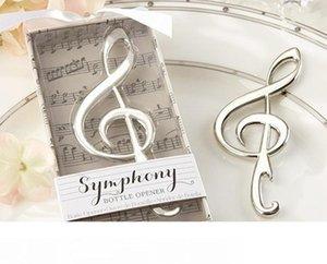 """""""Symphony"""" garrafa da nota da música abridor Favores originais do casamento Moda presente de casamento de noiva Souvenirs chuveiro design criativo abridor de cerveja"""