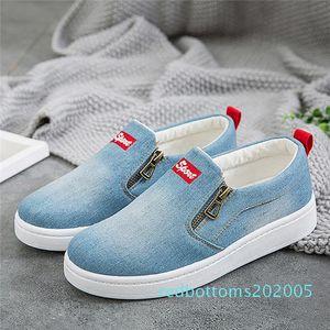 2019 Nouveau printemps Utumn chaussures plates pour les chaussures Zapatos R05 Denim Femme Plateau plat classique Mode plat Chaussures Casual