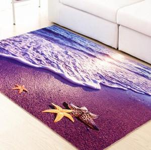 3D-Druck-Teppich-Halle-Tür-Mat-Anti-Slip-Badezimmer-Teppich aufnehmen Wasserküchenmatte 3D-Teppich