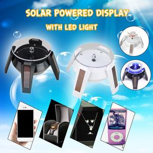 LED Solar 360 Turntable Display Stand Turn Table Plate para Jóias Relógio de Telefone de Exibição de Embalagem de Jóias