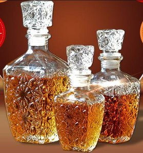 Виски Ликер Вино Напитки Графин Стекло Кристалл бутылки вина графин Gift Clear Cap 250ML 500ML 1PC