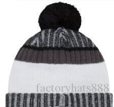 2019 cappello unisex Autunno Inverno Sport Cappello di lana su misura protezione lavorata a maglia Sideline Cold Weather Cappello di lana caldo SAN FRANCISCO SF 49 Beanie Calotta