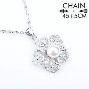 Natural Silver 925 Pearl Costume Bridal Jewelry Sets For Women Earrings With Stones Pendant&Necklace Rings Set Jewelery Gift Box