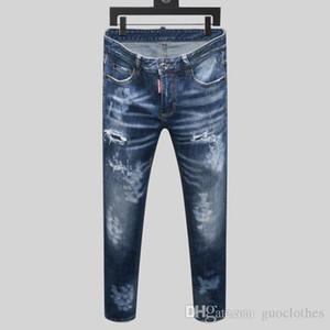 Gerçek dinin erkek jean şort erkekler pantolon Yepyeni Erkek Kot Sıkıntılı Biker İnce Biker Motosiklet Denim Jeans 2020 lüks mens Ripped