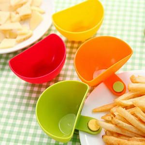 Мини приправа чаша соус блюдо кетчуп чаша фруктовый салат чаша приправа тарелка кухня клип блюдо творческие Кухонные аксессуары 4шт