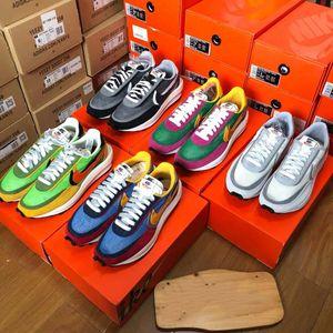 Top quality Níke Sacai x Níke LDV Waffle Daybreak Trainers Mens Sneakers For Women fashion Breathe Tripe S Sports Running Shoes