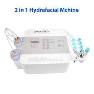 Los recién llegados cáscara de dermoabrasión facial Hydra portátil HydraFacial aerosol de oxígeno spa arma salón de uso de la máquina de cuidado facial