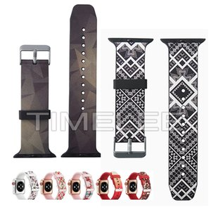 fashion Design Printed Silicone Watchband for Apple Watch band 38mm 42mm Bracelet wrist belt for iwatch