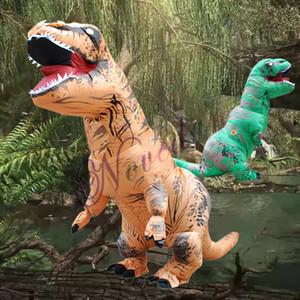Cadılar Bayramı Yetişkin Şişme Kostüm Dinozor Kostümler T REX Bay Bayan Çocuk Dino Karikatür Oyuncak için Fantezi Elbise Maskot Kostüm Blow Up