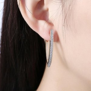 Zircon Inlaid Ear Hoops Fashionable Women Ear Rings Round Champagne Gold Color Earrings Ornaments For Girls Traveling 2020