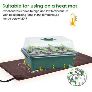 Сад 12 Отверстия Семена растений Grow Box Tray Nursery Рассада Starter Теплоизоляция Вставка Propagation Посев Nursery Горшок
