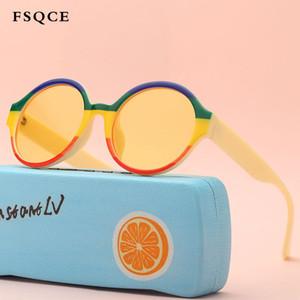 FSQCE 2020 Lunettes de soleil classiques Filles Garçons coloré Lunettes de soleil Lunettes de soleil rétro récent oculos Cat Eye UV400