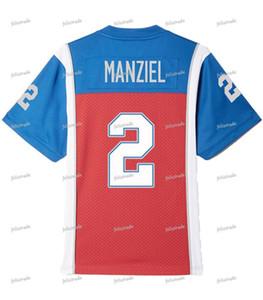 Johnny Manziel # 2 Alouettes Montréal avec Numéro sur les manches Double Jersey Football Jersey Hommes Femmes Jeunesse Personnalisable