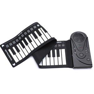 Roll-up Keyboard Piano, Instrumento Educacional portátil 49 chaves eletrônicas enrolar Keyboard for Kids Crianças