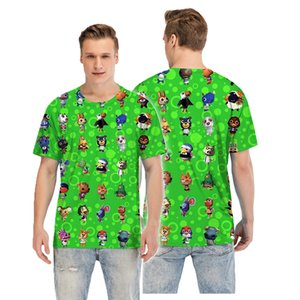 Animal Crossing Summer T-shirt Popular New Horizons T-shirts Animals Print High Quality Breathable Comfort Soft T-shirt Size S-5XL