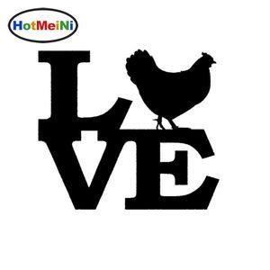Toptan Araba Sticker Jdm Araba Styling Tavuk Aşk Pencere Tampon Vinil Çıkartması Bagaj Kapağı Horoz Yumurta Coop 13 * 13 cm