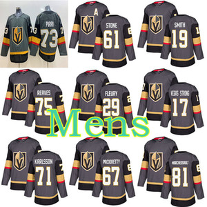 Vegas Golden Knights Jersey 29 Marc-André Fleury 61 Mark Ston 75 Ryan Reaves 71 William Karlsson 67 Max Pacioretty 58 forts maillots de hockey