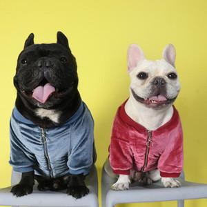 Pet Dog Velvet Bomber Jacket The Dog Face Fashion Coat Autumn Winter Fashion Sweater Vest Clothes
