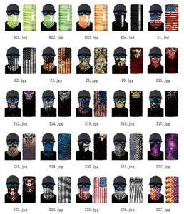 ABD Stok 3D Spor Boyun Kafatası Bisiklet Balıkçılık Eşarp bandanalar Shield Yüz Kafa Bandana Şapkalar Halka Eşarp bisiklet yün Maske