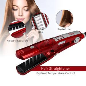 Haarpflege Styling Werkzeuge Dampf Haarglätter Trocken Nass Richteisen Bügeleisen Wafer Flache Eisen Steampot 4