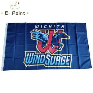 MILB Wichita rüzgar dalgalanımı bayrak 3 * 5ft (90 cm * 150 cm) polyester afiş dekorasyon uçan ev bahçe şenlikli hediyeler