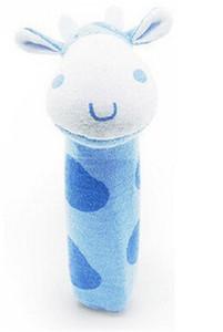 Presentes Stuffed Handbells bonito do bebê chocalhos dos desenhos animados Toy Animals Squeaker Bar Mão Plush Doll Puppet aniversário