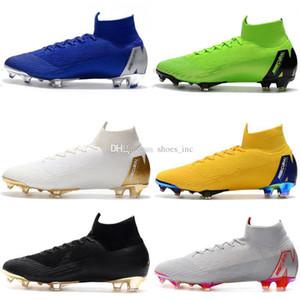 Yüksek Üstleri Erkek Futbol Çizmeler LVL UP Superfly 6 Elite FG Futbol Ayakkabıları CR7 Mercurial Superfly VI 360 Neymar NJR ACC Futbol Cleats