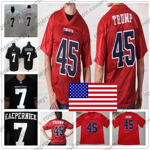 Stand Up For America # 45 Donald Trump USA Rosso IMWITHKAP # 7 Colin Kaepernick Nero Bianco Football americano Uomo Donna Bambino Kid Jersey 4XL