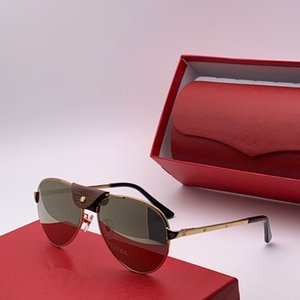 El nuevo diseñador de gafas de sol de lujo 0034 sencilla mitad de montura Lentes estilo vanguardista de calidad superior más vendido Gafas protección UV400 con la caja