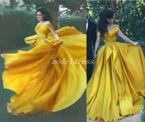 럭셔리 주 헤어 무라드 크리스탈 드레스 저녁 마모 2019 두바이 하나 어깨 라인 석 정장 드레스 무슬림 긴 소매 골드 댄스 파티 드레스
