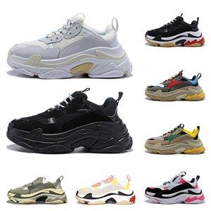 Wholesal Tasarımcı Ayakkabı Moda Paris 17FW Üçlü S Sneaker Rahat baba Ayakkabı erkekler Kadınlar için Siyah pembe beyaz Spor sneakers Boyutu 36-45