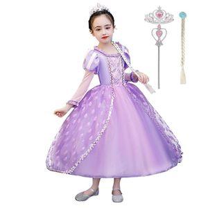 MUABABY девочки Рапунцель платье дети Делюкс Принцесса костюм кружево пэчворк Хэллоуин необычные платье симпатичное косплей платья