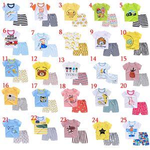 Active Boys Sets Boy Shorts Cartoon Suit Summer T-shirt manica corta + pantaloni corti 2 pezzi Abbigliamento Set Baby Girl Clothes