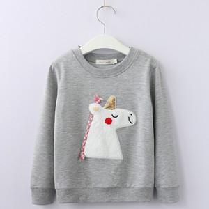 2018 Herbst-Baby-Winter-Kleidung Cartoon Mode Kinderhemd Sweatershirt Mädchen-T-Shirt aus Baumwolle Junior-Bekleidung