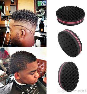 Torsión oval profesional lados dobles de pelo mágico de la esponja de abeto Afro Dreadlocks Curl cepillo de bobina que tuerce las ondas cepillos de esponja herramienta Braiders