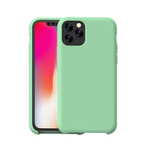 New Liquid Silicone Case for iphone 11 Pro XS MAX X XR 10 7 8 6 6S Plus Microfiber Inside Cute Candy TPU Matte Drop-Proof Cover