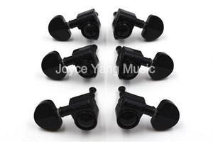 Grover Style Black Semicircle Guitar Tuning Pegs Tuners Machine Head 3L+3R