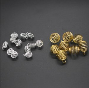 500Pcs Jewelry Plated Silver Gold Lantern Spring For Diy Spiral Pendants Necklace Wholesale Bead Cages Making Girl Accessories Pfqrc
