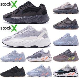 2020 zapatos corrientes de calidad superior Kanye West 700 v2 inercia reflectante Utilidad Tefra Sólido Gris Negro Vanta Hombres Mujeres Sport zapatillas de deporte con la caja