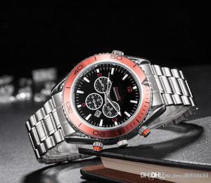2019 Качество Морской конек Мужские часы Top Brand Luxury Full Steel Men Спорт Бизнес швейцарские часы день Дата часы швейцарские часы